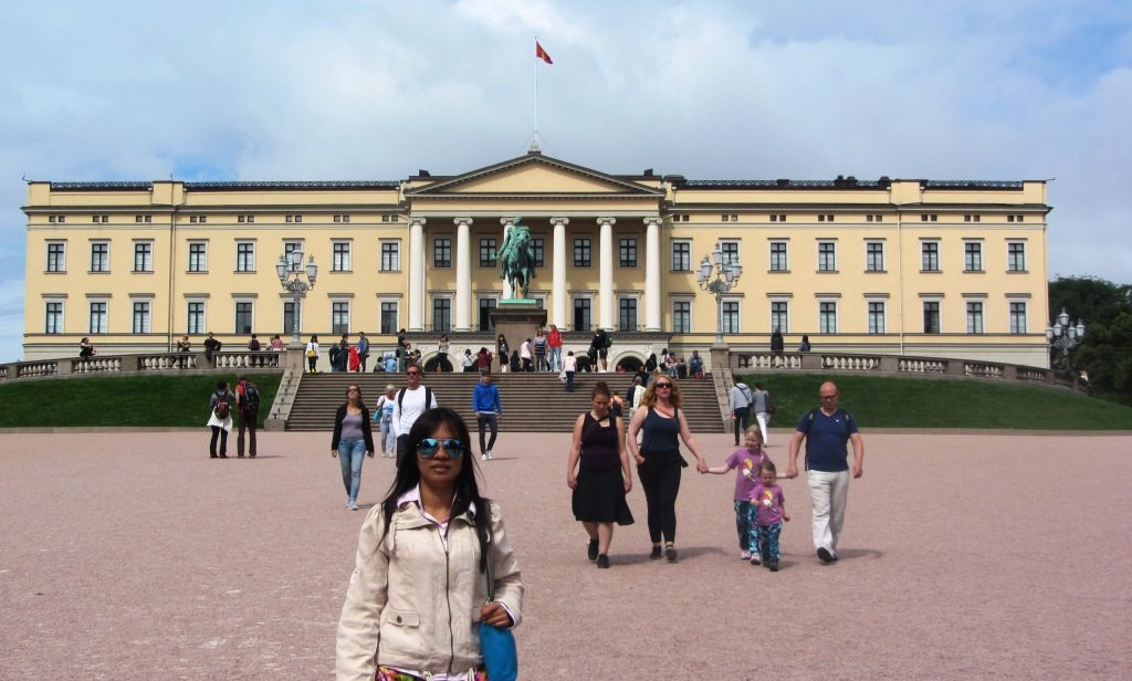 The Royal Palace in Oslo completed in 1849