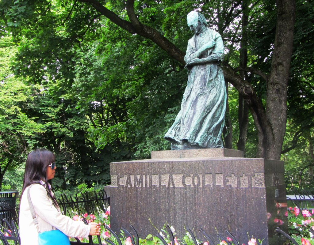 The statue of Norway´s first feminist, Camilla Collett