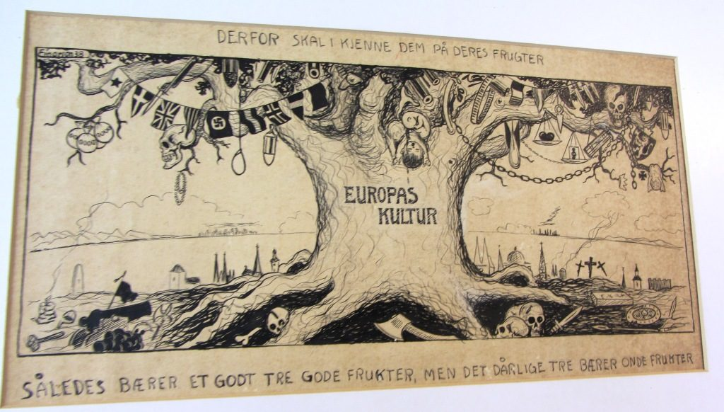 "Culture of Europa, a bad tree carrying bad fruits, referring to the bible quote ""By their fruit you will recognize them"""