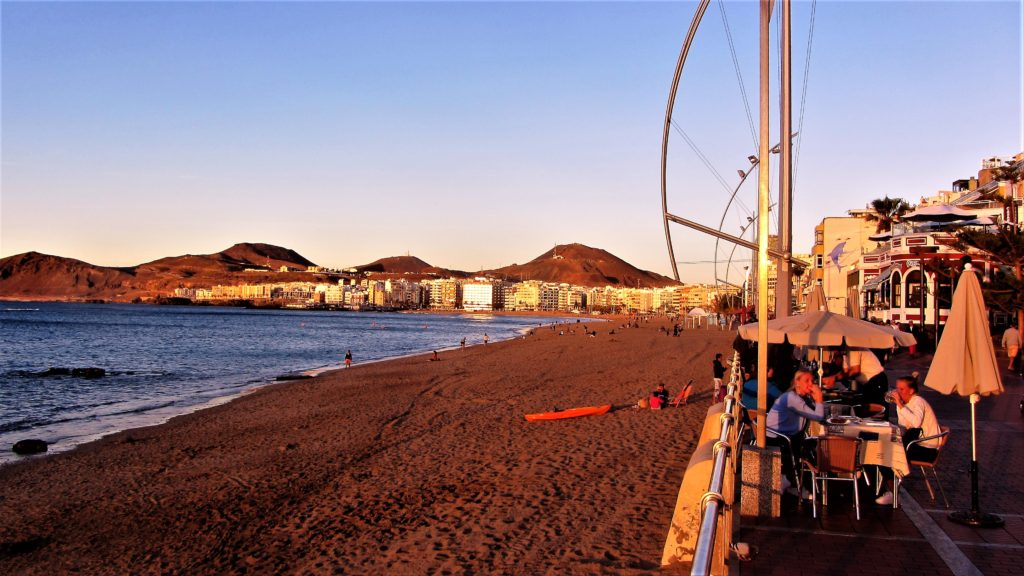 A part of the protected beach and diving spot in the heart of Las Palmas de Gran Canaria