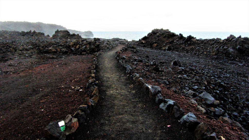 A path to coastal scenery