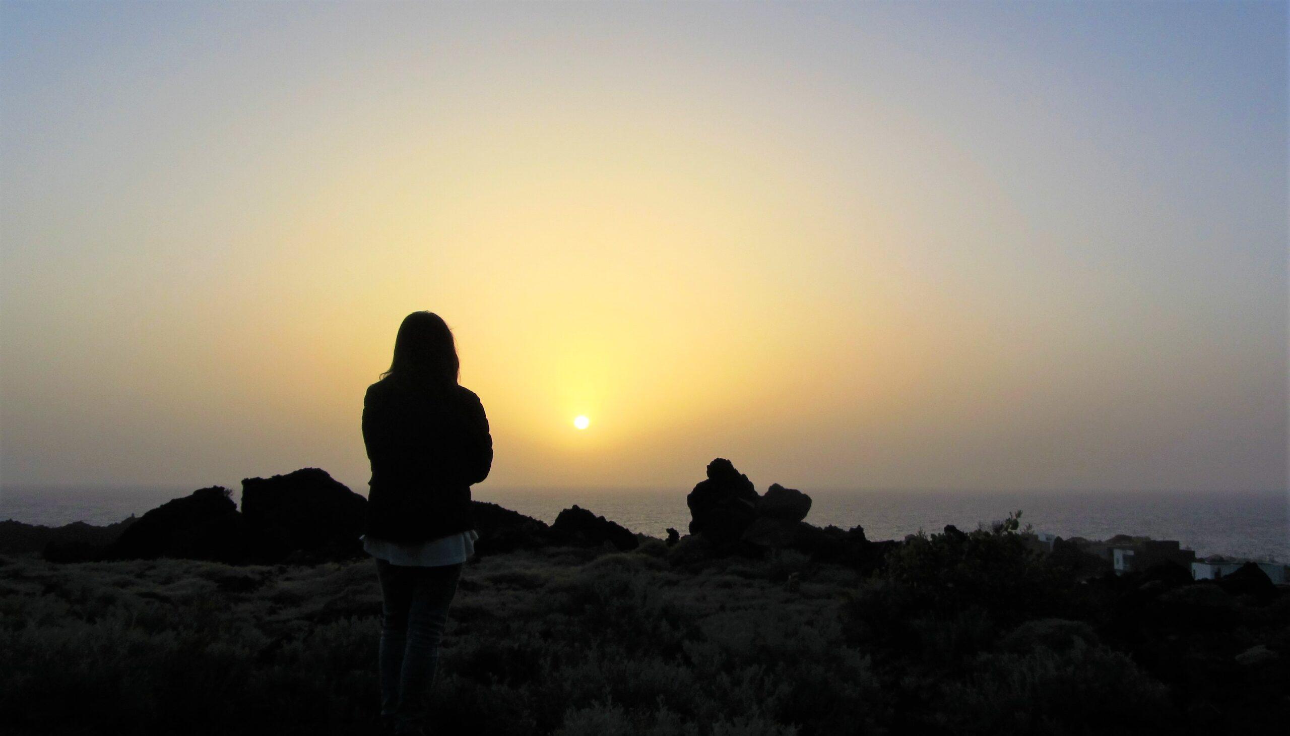 Watching the sunrise in Tamaduste