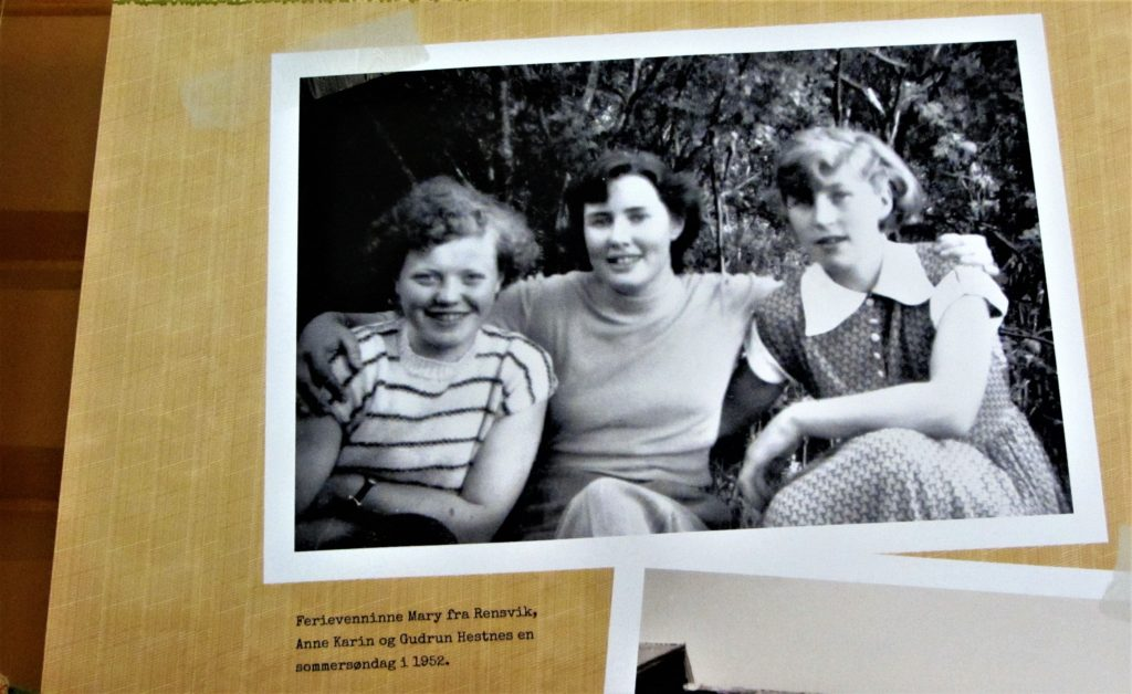 Embracing friends in 1952 as her writing embraced women all over Norway