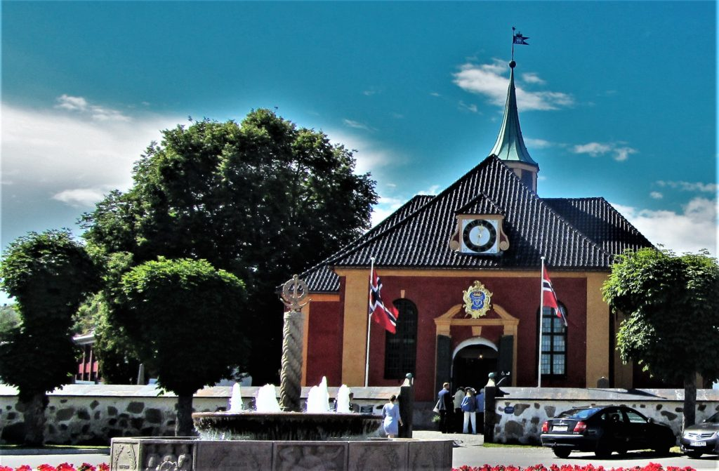The church of Stavern, an old naval town south of Oslo