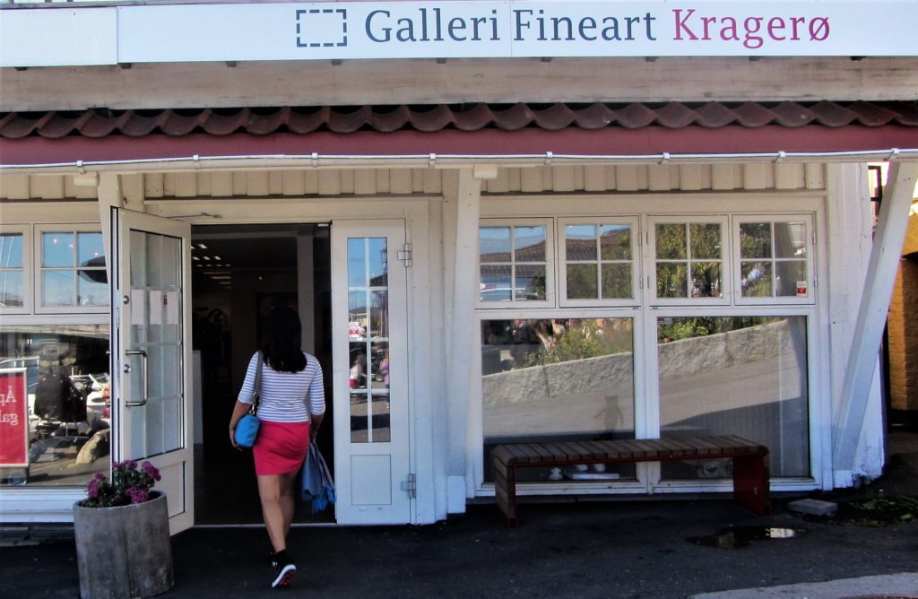 One of many galleries in Kragerø